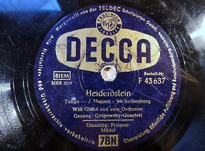 7556-10-034-78-RPM-Willi-Glahe-Golgowsky-Quartett-Heideroeslein-DECCA