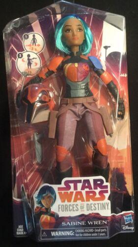 "Star Wars Forces of DestinySABINE WREN 10"" Mandalorian ACTION FIGURE Hasbro"