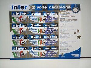 Francobolli San Marino Foglietto Inter 3 Volte Campione 2010 Nuovo MNH