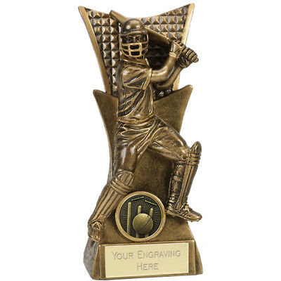 CRICKET TROPHY 3 SIZES AVAILABLE ENGRAVED FREE BALL BAT CLUBMAN STUMPS TROPHIES