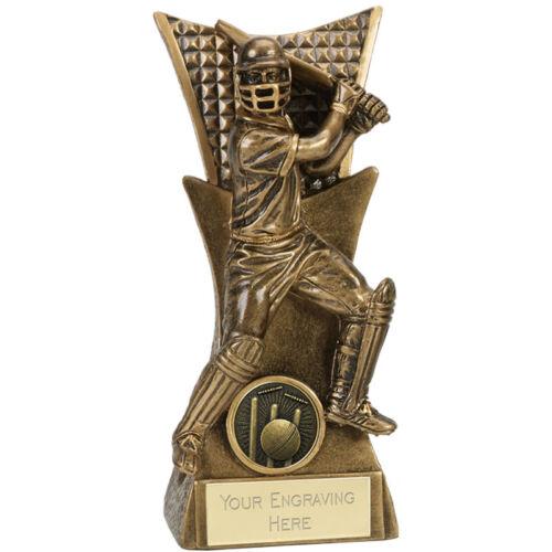 Cricket Trophy 3 tailles disponibles Gravé FREE BALL Bat Batteur stumps trophées