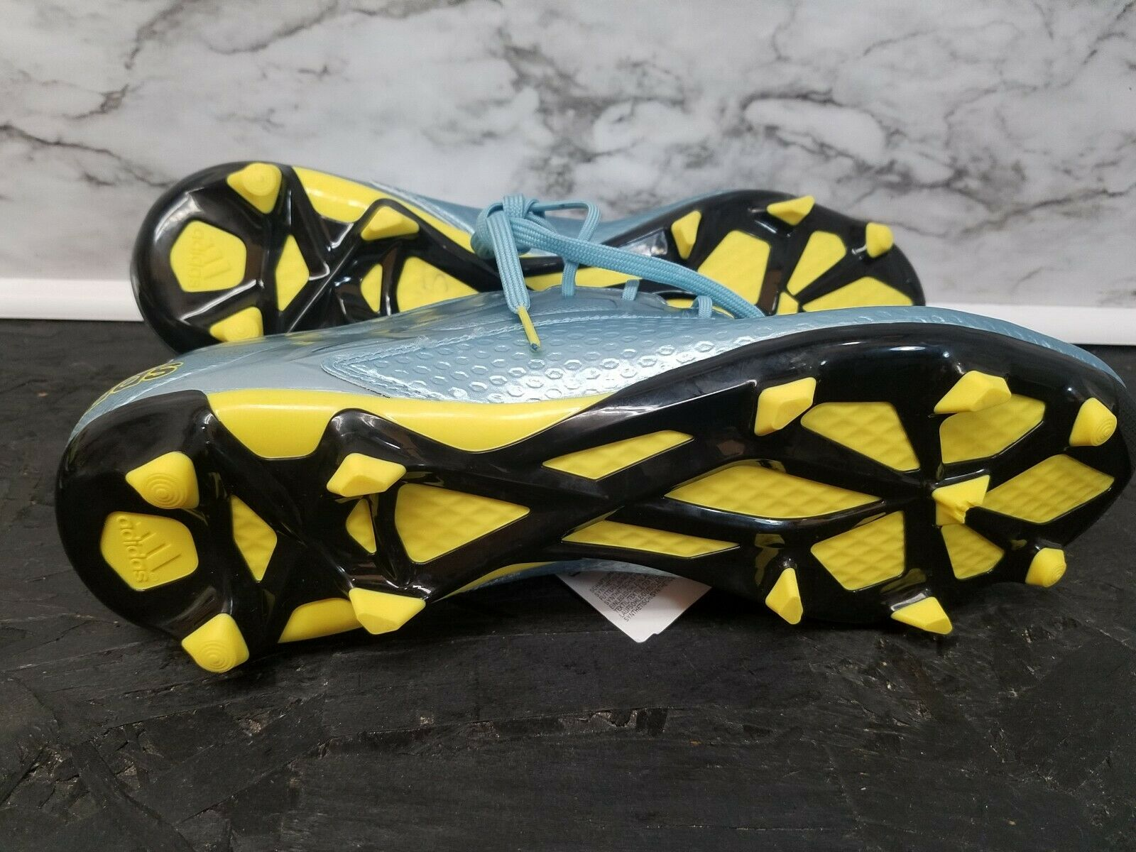 d5492a76336 ... RARE Adidas Messi 15.2 FG AG Soccer Soccer Soccer Cleats Lionel Messi  Size 12 Ice blueee ...
