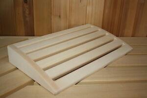 Poggiatesta Sauna Accessori Per Sauna Poggiatesta legno tiglio Gr. L ...