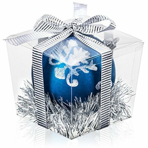 """Clear Party Favor Boxes Food Grade PET Pre-Folded in 25 unit package 3/""""x3/""""x3.5/"""""""