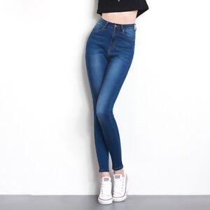 d2dd9f6c3b1 La imagen se está cargando Pantalones-vaqueros-elasticos-jeans -ajustados-legins-de-mujer-