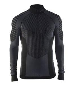 Funktionsshirt-CRAFT-Active-Intensity-Zip-Herren-Kompression-Langarm-schwarz