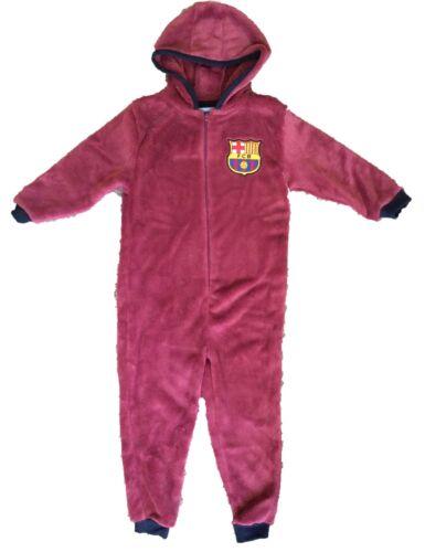 Barcelona Football Club All in One Sleepsuit Boys Dressing Gown Pyjamas