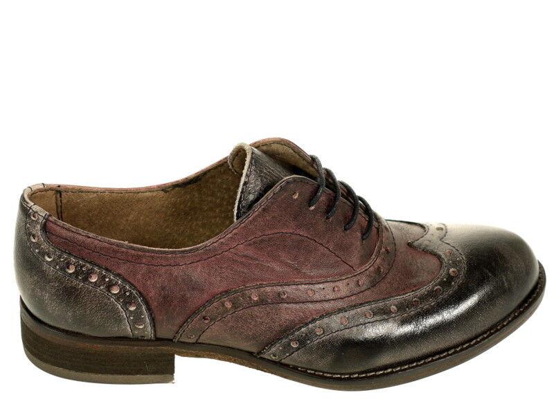 Cavallini Schuhe Halbschuh 5201 Gr. 41 und Original Neu und 41 OVP bordeaux grau dacacf