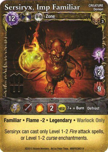 Sersiryx, Imp Familiar - Allegiance in Blood Mage Promo - Mage Blood Wars c46590