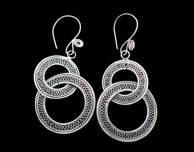 Tribal Jewelry Boho Hippie Style Ethnic Jewelry Supply Component Antique Miao Earring Use as Pendant or Assemblage Single Earring Gauged