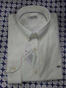 Camicia-Lacoste-Uomo-Bianco-Regular-Fit-Maniche-Lunghe-CH8766-161