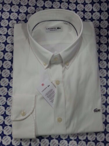 Bianco Regular Fit Maniche Lunghe CH8766  161 Camicia Lacoste Uomo