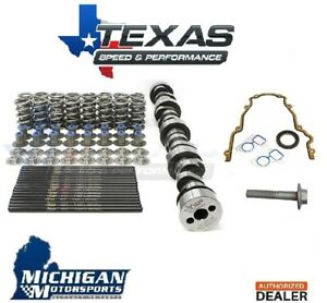 Camshaft and Spring Kit Texas Speed TSP LS3 Stage 3 Camshaft Single Bolt Cam 6.2 LS3 LSA L92 Includes Spring Kit and 7.400 Chromoly Pushrods