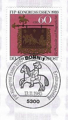 Brd 1980: Fip-kongreß Essen! Nr. 1065 Mit Bonner Ersttagssonderstempel! 1a! 154