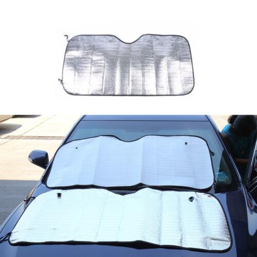 1PC Silvery Car Window Screen Sun Shade Mesh Cover Windshield Sunshade Visor