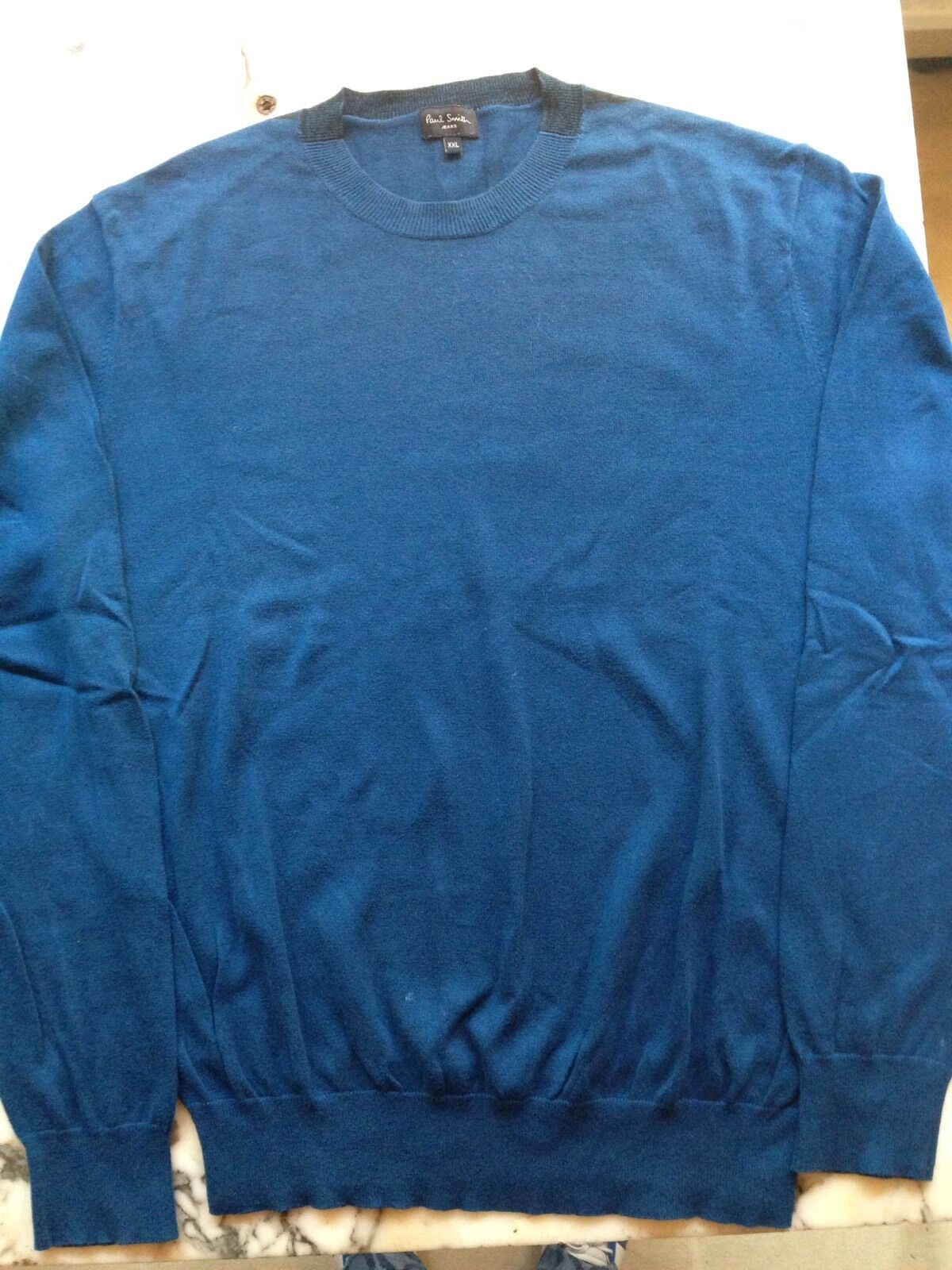 Paul Smith  jeans bluee cotton  pull over jumper size XXL