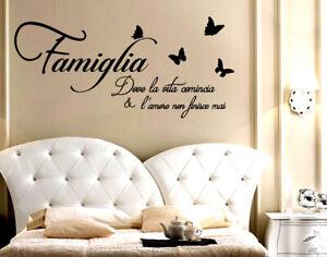 Adesivi Murali Famiglia Dove La Vita Comincia Frase