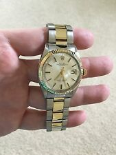 Rolex 1600 Vintage Oyster Perpetual Datejust Folded Oyster band 14K gold/SS