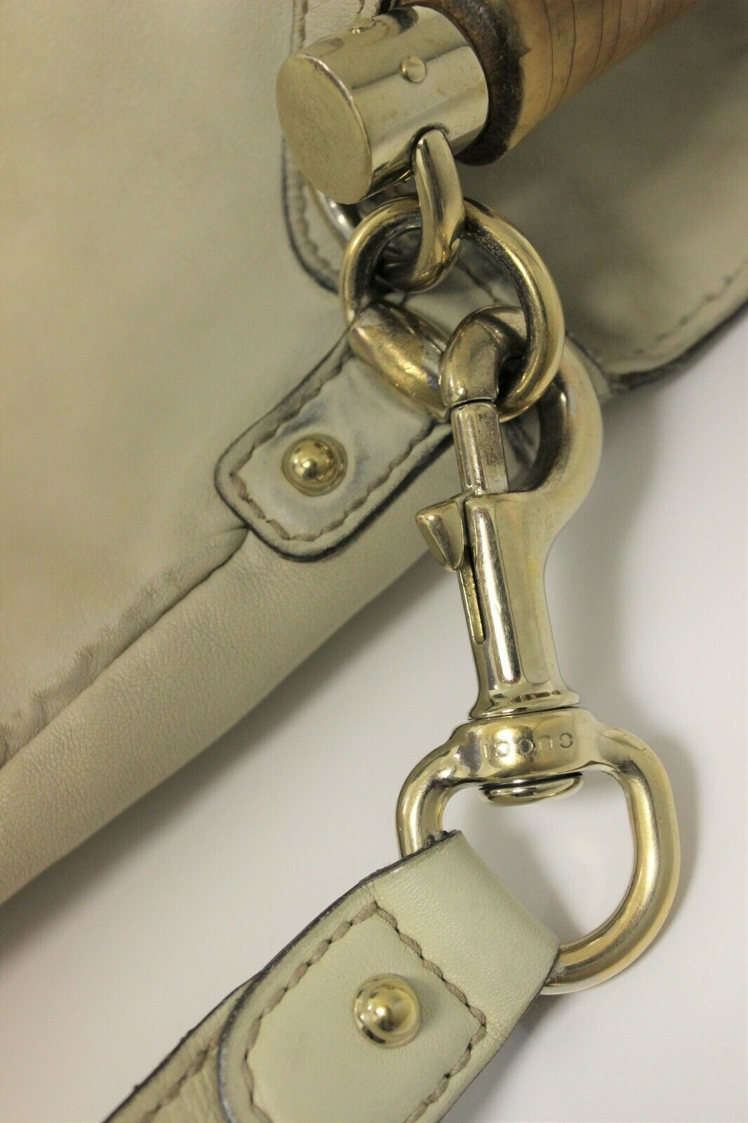 GUCCI Calfskin Peggy Bamboo Top Handle Hobo Bag -… - image 6