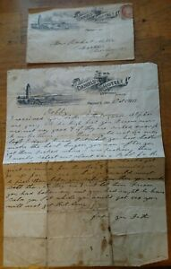 1897-DANIELS-039-HOTEL-OLD-WINDMILL-COVER-W-MATCHING-LETTERHEAD-PRESCOTT-ONT