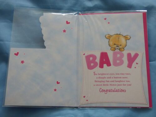GREETING CARD YOU HAVE A BABY BROTHER SISTER NEW BABY CONGRATULATIONS BOY GIRL