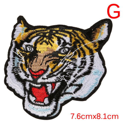 Tiger Embroidered Applique Sew Iron on Cloth Patch Badge For Jacket Jeans Decor