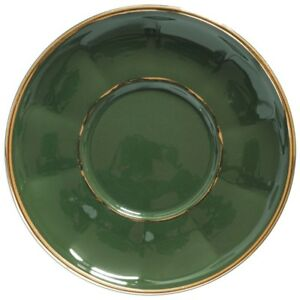 Apilco Coffee Cup Saucer Only x 1 - French Bistro Ware - Green and ...
