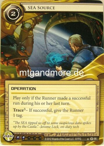 Android Netrunner LCG Base Set 1x Sea Source  #086