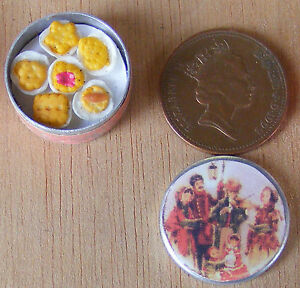 1-12-Scale-Full-Biscuit-Tin-Dolls-House-Miniature-Kitchen-Food-Accessory-Bt28b