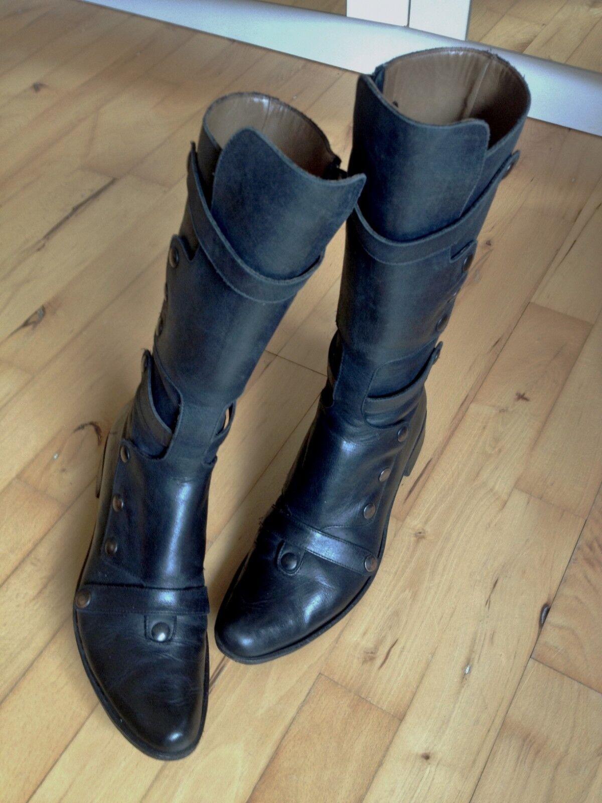 VERO CUOIO Italian Quality Leather Boots - EU 38.5 (US 8.5-9)