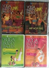 4 Yoga Booty Ballet workout exercise fitness DVD lot Hip hop abs burlesque abs