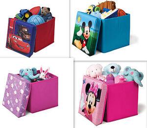 spielzeugkiste hocker auswahl disney aufbewahrungsbox mit deckel stuhl kiste ebay. Black Bedroom Furniture Sets. Home Design Ideas