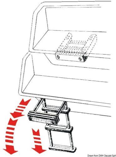 Badeleiter für Badeplattform 3/&4 Stufen Teleskopleiter klappbar Bootsleiter Niro
