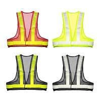 Safety Reflective Vest Traffic Visibility Warning Stripes Jacket Mesh Waistcoat