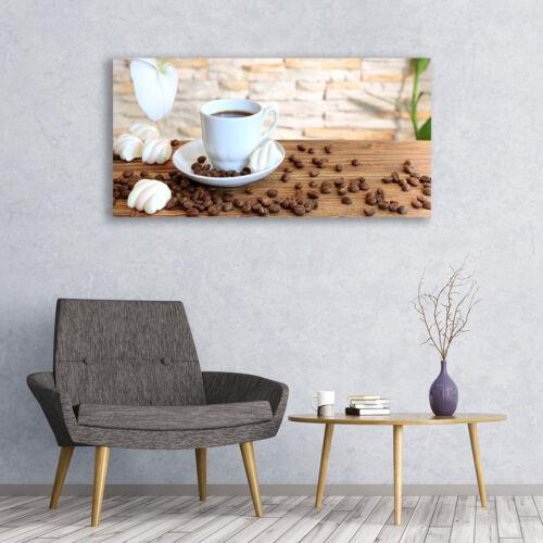 Acrylglasbilder Wandbilder Druck 120x60 Tasse Kaffee Kaffeebohnen Küche
