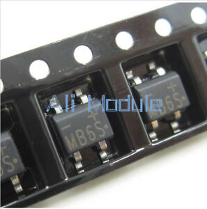 50Pcs MB6S 0.5A 600V Miniature Mini SMD Bridge Rectifier