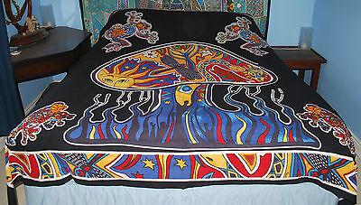 New Tie Dye Gecko Double Bedspread Throw Hippy Fairly Traded India Lizard