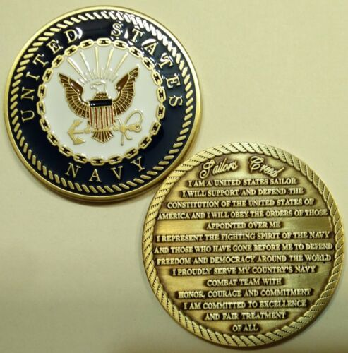 United States Navy Sailors Creed Challenge Coin