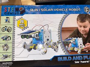 Stem Genius Toy 14 in 1 Solar Vehicle Robot Kit ~ New ...