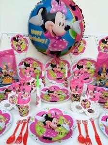 Image Is Loading Minnie Mouse Party Supplies Birthday Decoration Perfect For