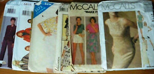 6-x-Vintage-Sewing-Patterns-Bulk-Lot-Miss-Size-6-8-10-12
