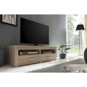multimedia lowboard tv lowboard mit schubladen 120cm sonoma eiche neu ovp ebay. Black Bedroom Furniture Sets. Home Design Ideas