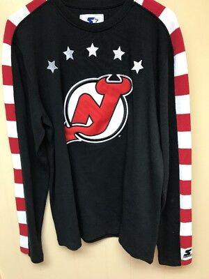 Men S Brand New Starter New Jersey Devils Fashion Design Era Sweater Size Large Ebay