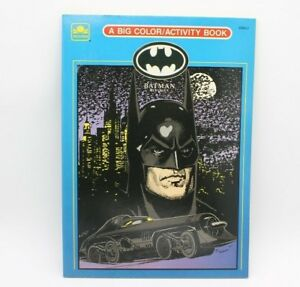Details about VINTAGE UNUSED PERFECT BATMAN RETURNS BIG Coloring Book 1992  Comic Cartoon RARE