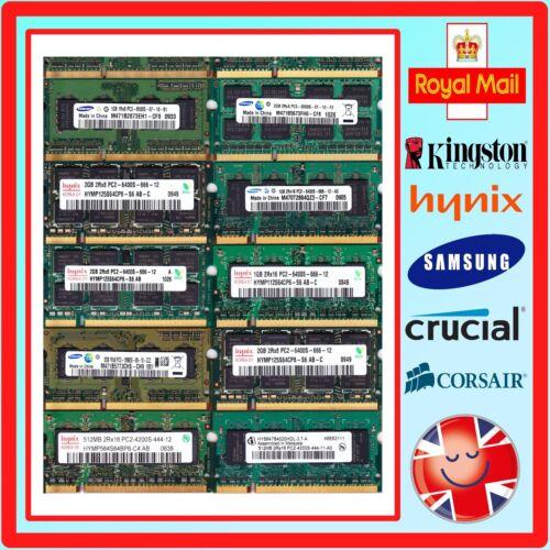 Laptop Non-ECC DDR1 Unbuffered Memory Modules Various Brands//Speeds//Capacities.