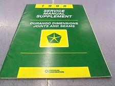 1998 Durango Dimensions Joints & Seams Service Manual Supplement FREE Ship!!