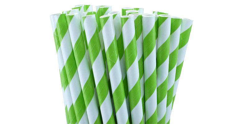 1,000 Biodegradable Kraft Paper Drinking Straws vert Strong 3 ply Cafe BULK BUY