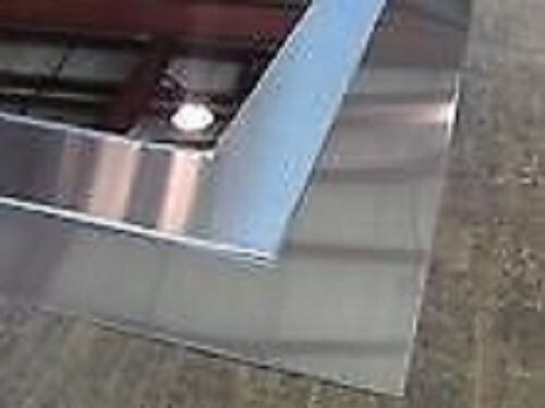 """MIRRORED STAINLESS STEEL SHEET W//PVC ALLOY 430  20g x 12/"""" x 24/"""""""