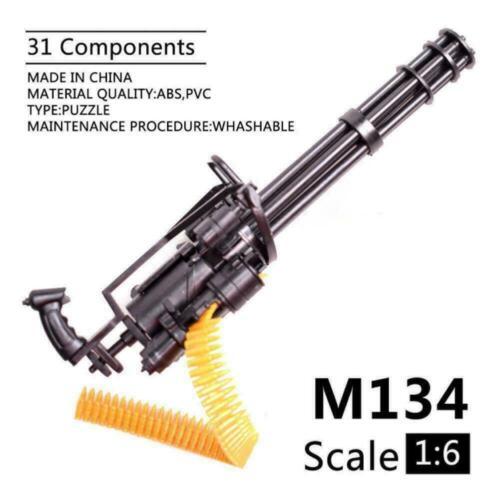 1:6 Scale M134 Minigun Gatling Machine Gun 16CM TERMINATOR For Action W4C1 H0B6