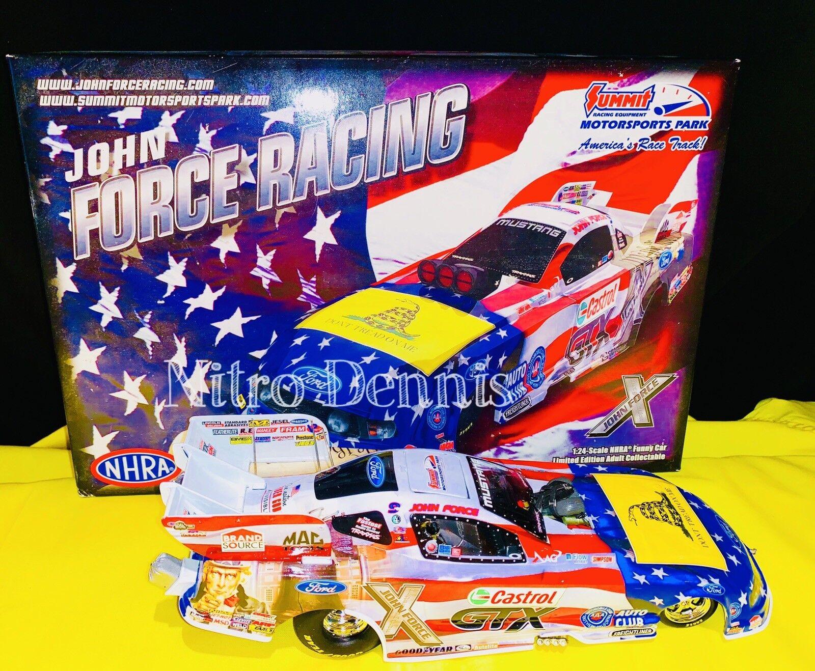 NHRA JOHN FORCE 1:24 NITRO Funny Car NORWALK Diecast AMERICAN PRIDE Action 2012